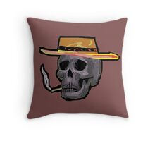 the outlaw Zombie Wales Throw Pillow