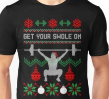 Get your swole on christmas gym weights ugly christmas sweater Unisex T-Shirt