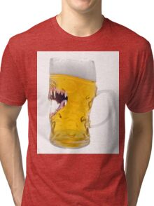 Beer, Biting Beer Glass, Everyone Looks Good After A Few Tri-blend T-Shirt