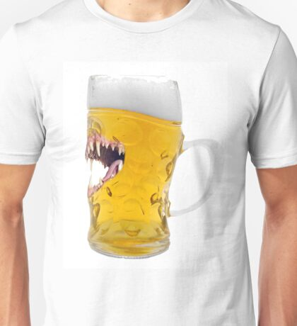 Beer, Biting Beer Glass, Everyone Looks Good After A Few Unisex T-Shirt