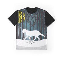 White Wolf at midnight Graphic T-Shirt