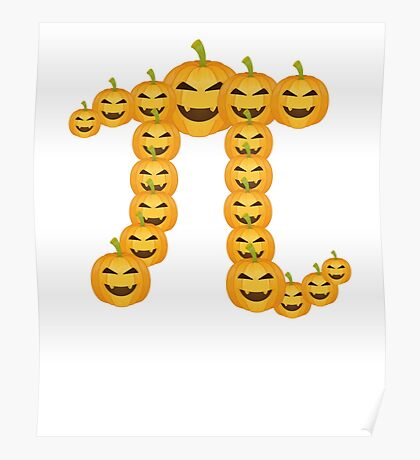 Pumpkin Pi Pie Funny Math Clever Halloween  Poster