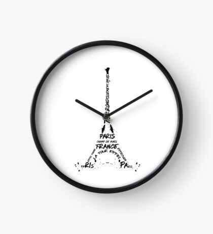 Digital-Art Eiffel Tower Clock
