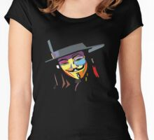 Anonymous - Vendetta Women's Fitted Scoop T-Shirt