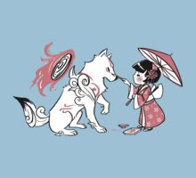 Painting With Okami by miskiart