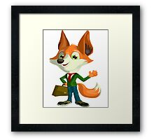 Funny Mr. Fox Vector Graphic Animinated Print Framed Print