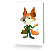 Funny Mr. Fox Vector Graphic Animinated Print Greeting Card