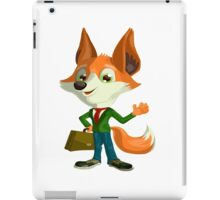 Funny Mr. Fox Vector Graphic Animinated Print iPad Case/Skin