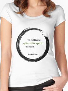 Motivational Education Quote Women's Fitted Scoop T-Shirt