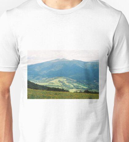 Carpathian landscape with flowers Unisex T-Shirt