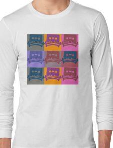 Music Tape Cassette Pirate Pop Art Long Sleeve T-Shirt