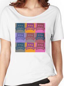 Music Tape Cassette Pirate Pop Art Women's Relaxed Fit T-Shirt