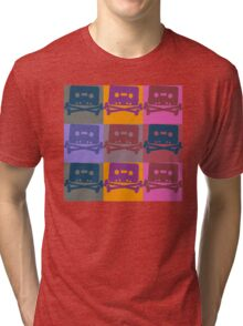 Music Tape Cassette Pirate Pop Art Tri-blend T-Shirt