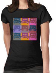 Music Tape Cassette Pirate Pop Art Womens Fitted T-Shirt