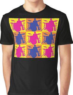 Pop Art Drummer Graphic T-Shirt