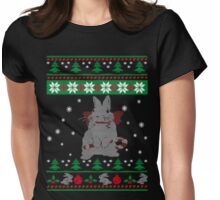 Bunny Ugly Christmas Sweater Womens Fitted T-Shirt