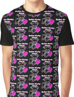 Roller Derby Chick (Pink) Graphic T-Shirt