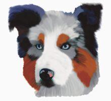 Colourful Collie Dog Art Kids Tee