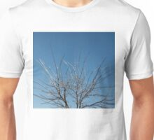 Christmas Decorations by Mother Nature - Brilliant Blue and White Glow in the Sky Unisex T-Shirt