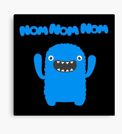 Funny & Cute Om nom nom nom - Monster Canvas Print