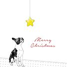 A Boston Terrier Christmas by Ludwig Wagner