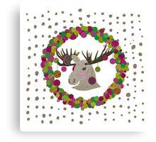Merry Chrismoose Canvas Print