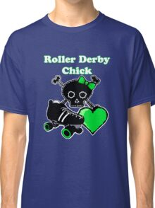 Roller Derby Chick (Green) Classic T-Shirt