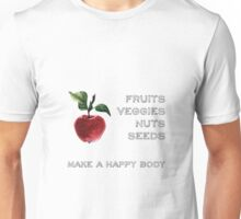 Fruits Veggies Nuts and Seeds Unisex T-Shirt