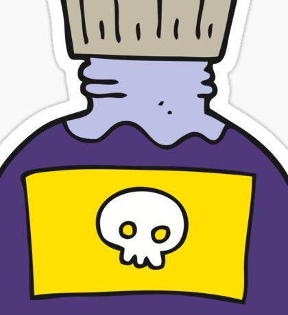 cartoon poison Sticker