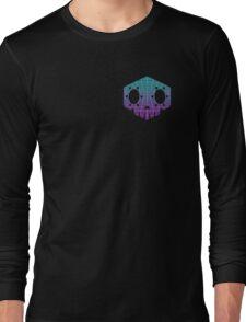 Sombra Skull Vaporwave (Pocket/Reverse colour) Long Sleeve T-Shirt