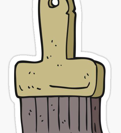 cartoon brush Sticker