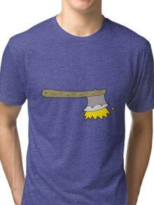cartoon striking axe Tri-blend T-Shirt