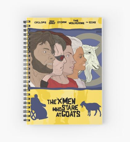 The 'X-Men' Who Stare at Goats Spiral Notebook