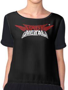 Babymetal - Logo en blanco y rojo Chiffon Top