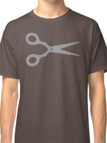 Grey / Silver Scissors (barber shop) Classic T-Shirt