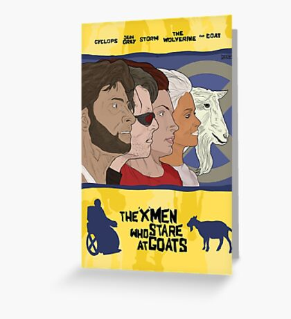 The 'X-Men' Who Stare at Goats Greeting Card