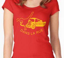 """""""Dans La Rue"""" Women's Fitted Scoop T-Shirt"""