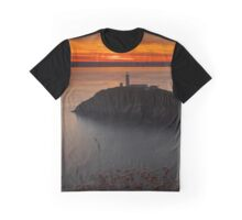 Sunset at South Stack Lighthouse Graphic T-Shirt