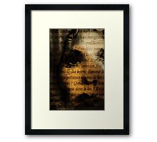 """And I asked her: """"But what of the lions?"""" Framed Print"""