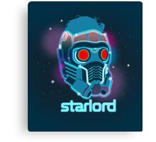 Neon Star Lord Mask Canvas Print
