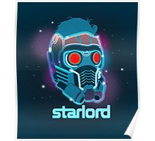 Neon Star Lord Mask Poster