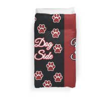 Dog Side My Side Duvet With Paws (select king size and read description) Duvet Cover
