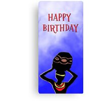 Happy Birthday Beer Bearer Canvas Print