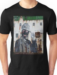 Gangster in a ski mask Criminal Graffiti photograph Unisex T-Shirt
