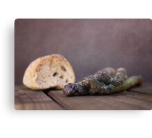 Bread&Asparagus Canvas Print