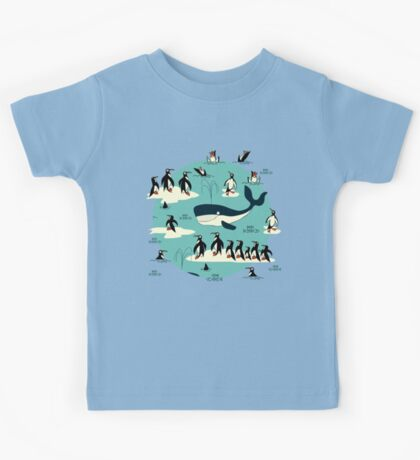 Whales, Penguins and other friends Kids Tee