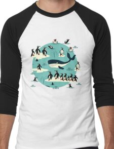 Whales, Penguins and other friends Men's Baseball ¾ T-Shirt