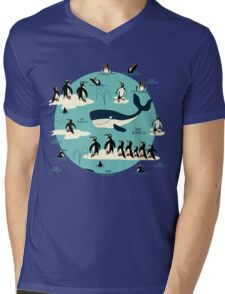 Whales, Penguins and other friends Mens V-Neck T-Shirt