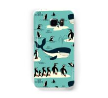 Whales, Penguins and other friends Samsung Galaxy Case/Skin