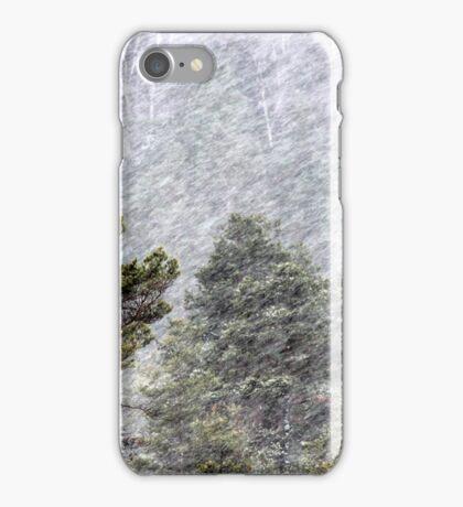 9.11.2016: Pine Trees in Snowstorm II iPhone Case/Skin